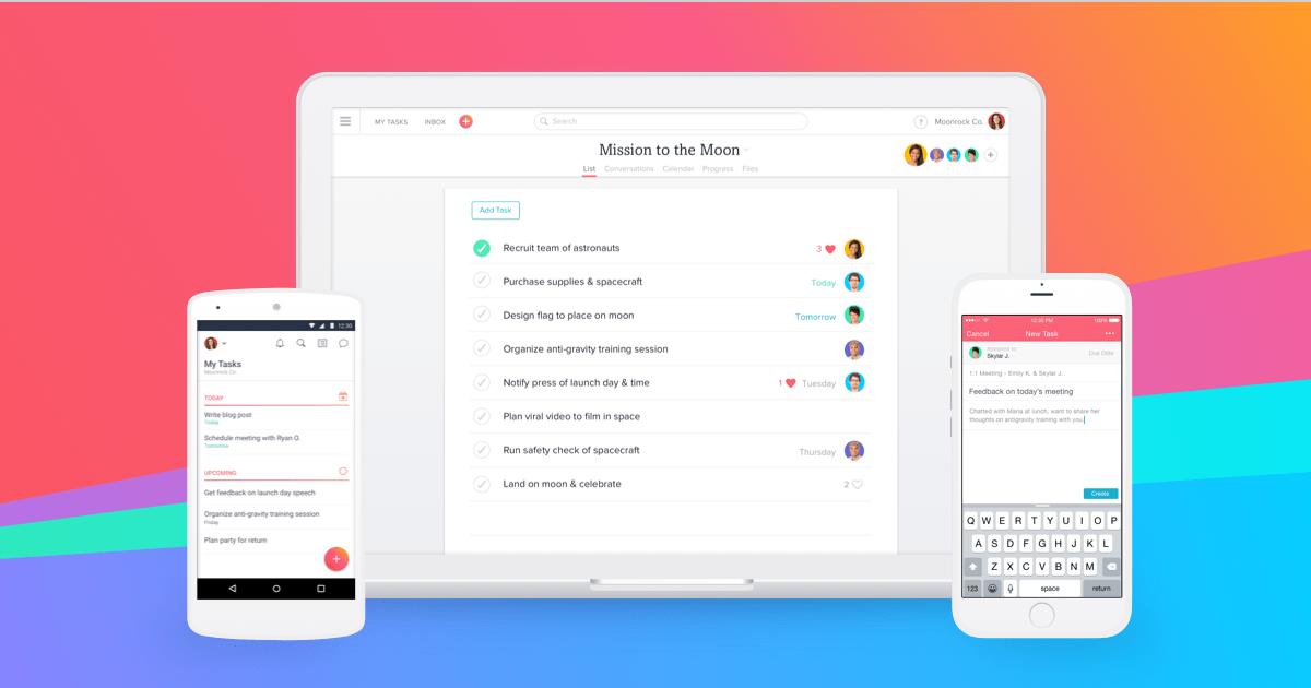 Asana: organize team projects screenshot